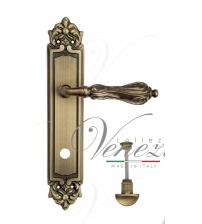 """Дверная ручка на планке Venezia """"MONTE CRISTO"""" WC-2 PL96 (матовая бронза, с фиксатором)"""