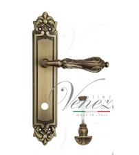 """Дверная ручка на планке Venezia """"MONTE CRISTO"""" WC-4 PL96 (матовая бронза, с фиксатором)"""