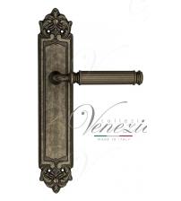 """Дверная ручка на планке Venezia """"MOSCA"""" PASS PL96 (античное серебро, проходная)"""