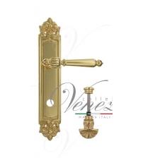 """Дверная ручка на планке Venezia """"PELLESTRINA"""" WC-4 PL96 (полированная латунь, с фиксатором)"""