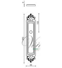 """Дверная ручка на планке Venezia """"ALESSANDRA"""" PASS PL96 (полированная латунь, проходная)"""