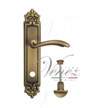 "Дверная ручка на планке Venezia ""VERSALE"" WC-2 PL96 (матовая бронза, с фиксатором)"
