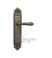 """Дверная ручка на планке Venezia """"VIGNOLE"""" PASS PL96 (античная бронза, проходная)"""