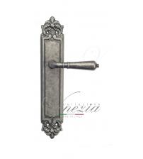 """Дверная ручка на планке Venezia """"VIGNOLE"""" PASS PL96 (античное серебро, проходная)"""