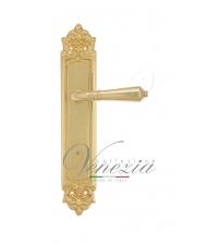 """Дверная ручка на планке Venezia """"VIGNOLE"""" PASS PL96 (полированная латунь, проходная)"""