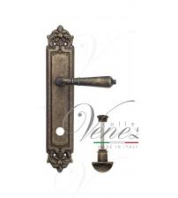 "Дверная ручка на планке Venezia ""VIGNOLE"" WC-2 PL96 (античная бронза, с фиксатором)"