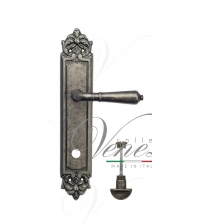 "Дверная ручка на планке Venezia ""VIGNOLE"" WC-2 PL96 (античное серебро, с фиксатором)"