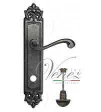 """Дверная ручка на планке Venezia """"VIVALDI"""" WC-2 PL96 (античное серебро, с фиксатором)"""