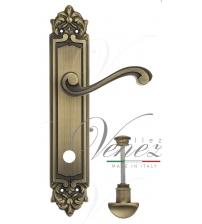 "Дверная ручка на планке Venezia ""VIVALDI"" WC-2 PL96 (матовая бронза, с фиксатором)"