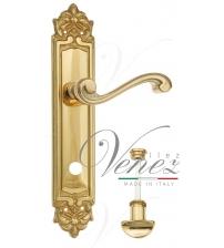 """Дверная ручка на планке Venezia """"VIVALDI"""" WC-2 PL96 (полированная латунь, с фиксатором)"""