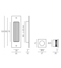 Комплект ручек для раздвижной двери Venezia U166 (матовый хром)
