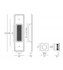 Комплект ручек для раздвижной двери Venezia U177 (матовый хром)