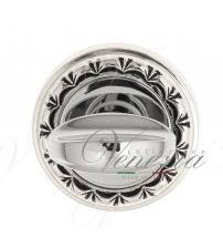 Фиксатор поворотный Venezia WC-2 D2 (натуральное серебро/чёрный)
