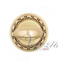 Фиксатор поворотный Venezia WC-2 D2 (французское золото/коричневый)