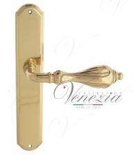 """Дверная ручка на планке Venezia """"ANAFESTO"""" PASS PL02 (полированная латунь, проходная)"""