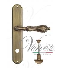 """Дверная ручка на планке Venezia """"MONTE CRISTO"""" WC-1 PL02 (матовая бронза, с фиксатором)"""