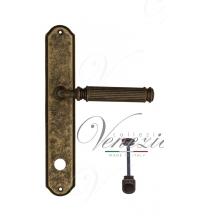 "Дверная ручка на планке Venezia ""MOSCA"" WC-1 PL02 (античная бронза, с фиксатором)"