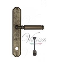 "Дверная ручка на планке Venezia ""MOSCA"" WC-1 PL02 (античное серебро, с фиксатором)"