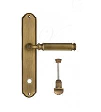 "Дверная ручка на планке Venezia ""MOSCA"" WC-1 PL02 (матовая бронза, с фиксатором)"