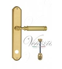 """Дверная ручка на планке Venezia """"MOSCA"""" WC-1 PL02 (полированная латунь, с фиксатором)"""