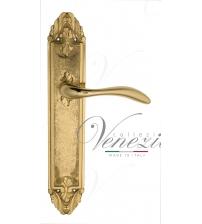 """Дверная ручка на планке Venezia """"ALESSANDRA"""" PASS PL90 (полированная латунь, проходная)"""