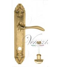 """Дверная ручка на планке Venezia """"ALESSANDRA"""" WC-2 PL90 (полированная латунь, с фиксатором)"""