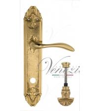 """Дверная ручка на планке Venezia """"ALESSANDRA"""" WC-4 PL90 (полированная латунь, с фиксатором)"""