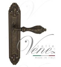 """Дверная ручка на планке Venezia """"ANAFESTO"""" PASS PL90 (античная бронза, проходная)"""