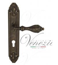 "Дверная ручка на планке Venezia ""ANAFESTO"" CYL PL90 (античная бронза, под цилиндр)"