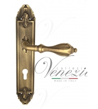 "Дверная ручка на планке Venezia ""ANAFESTO"" CYL PL90 (матовая бронза, под цилиндр)"