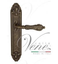 """Дверная ручка на планке Venezia """"MONTE CRISTO"""" PASS PL90 (античная бронза, проходная)"""
