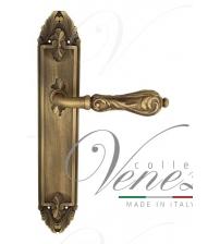 """Дверная ручка на планке Venezia """"MONTE CRISTO"""" PASS PL90 (матовая бронза, проходная)"""