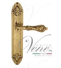 """Дверная ручка на планке Venezia """"MONTE CRISTO"""" PASS PL90 (французское золото/коричневый, проходная)"""