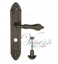 """Дверная ручка на планке Venezia """"MONTE CRISTO"""" WC-2 PL90 (античное серебро, с фиксатором)"""