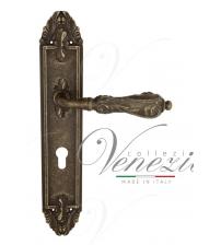 """Дверная ручка на планке Venezia """"MONTE CRISTO"""" CYL PL90 (античная бронза, под цилиндр)"""