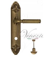 "Дверная ручка на планке Venezia ""MOSCA"" WC-2 PL90 (матовая бронза, с фиксатором)"