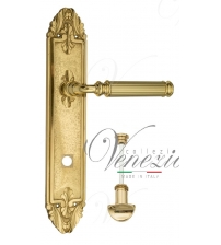 """Дверная ручка на планке Venezia """"MOSCA"""" WC-2 PL90 (полированная латунь, с фиксатором)"""
