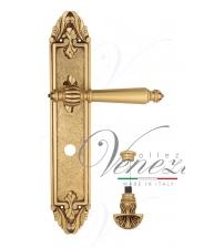 """Дверная ручка на планке Venezia """"PELLESTRINA"""" WC-4 PL90 (французское золото/коричневый, с фиксатором)"""