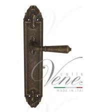 """Дверная ручка на планке Venezia """"VIGNOLE"""" PASS PL90 (античная бронза, проходная)"""