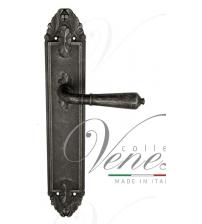 """Дверная ручка на планке Venezia """"VIGNOLE"""" PASS PL90 (античное серебро, проходная)"""