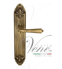 """Дверная ручка на планке Venezia """"VIGNOLE"""" PASS PL90 (матовая бронза, проходная)"""