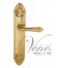 """Дверная ручка на планке Venezia """"VIGNOLE"""" PASS PL90 (полированная латунь, проходная)"""
