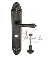 "Дверная ручка на планке Venezia ""VIGNOLE"" WC-2 PL90 (античное серебро, с фиксатором)"