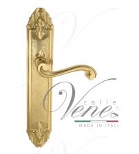 """Дверная ручка на планке Venezia """"VIVALDI"""" PASS PL90 (полированная латунь, проходная)"""