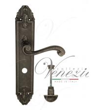 """Дверная ручка на планке Venezia """"VIVALDI"""" WC-2 PL90 (античное серебро, с фиксатором)"""