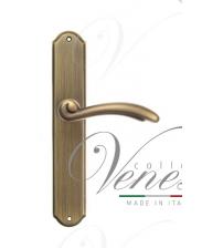 """Дверная ручка на планке Venezia """"VERSALE"""" PASS PL02 (матовая бронза, проходная)"""