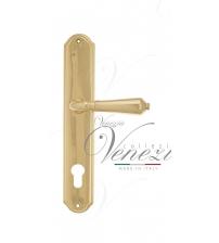 """Дверная ручка на планке Venezia """"VIGNOLE"""" CYL PL02 (полированная латунь, под цилиндр)"""