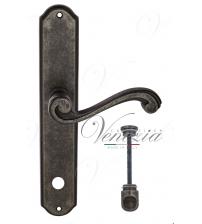 """Дверная ручка на планке Venezia """"VIVALDI"""" WC-1 PL02 (античное серебро, с фиксатором)"""