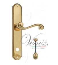 """Дверная ручка на планке Venezia """"VIVALDI"""" WC-1 PL02 (полированная латунь, с фиксатором)"""