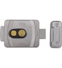 Замок накладной электромеханический VIRO9083.0794.P V9083 Кн 12V (с кнопкой, внутреннего открывания, 3 ключа, универсальный)